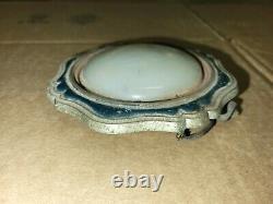 1920s 1930s ART DECO DOME COURTESY PILLAR LIGHT WITH ROUND MILK GLASS #2