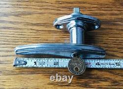 1920s 1930s DOOR HANDLE withKEY vtg exterior lock