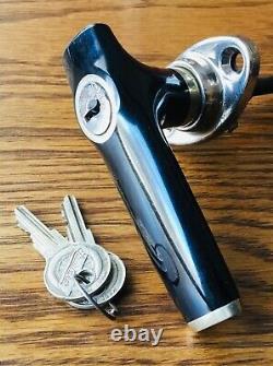 1920s 1930s Studebaker DOOR HANDLE withLOGO KEYS vtg antique NOS exterior lock