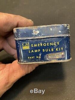 1930s 1940s 1950s GM Accessory Emergency Kit Tin Chevrolet Buick Pontiac GMC