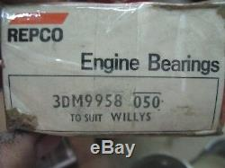 1939 73 Ford GPW Willys Jeep 134 F L Head Go Devil Hurricane Main Bearings. 050