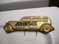 1950s Antique Automobile Visor nos Service reminder Vintage Chevy Ford Jalopy VW