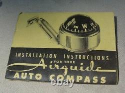 1950s Antique Compass Automobile Accessory Air guide Vintage Chevy Hot Rat Rod