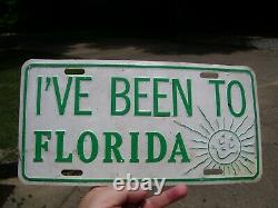 1960s Antique Automobile Florida License Plate Vintage Chevy Ford old Jalopy VW
