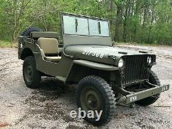Early 1942 Willys MB WWII Military Jeep G503 GPW Ford 1943 1944 1945 Bantam MA