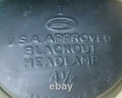 Ford GPW (& Willys MB) jeep B. O. Headlight lamp 6v Never used. Might a newer made