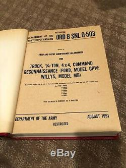 Ford Willys MB GPW Jeep Parts Manuals