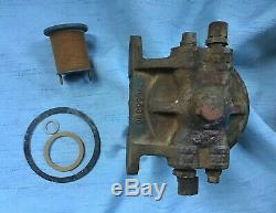 GPW Jeep F Marked Fuel Filter, Used Take Off, Orig with NOS Filter & Gaskets