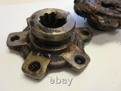 MB GPW Willys Ford WWII Jeep G503 CJ2A CJ3A Front Axle Drive Flange Pair NOS