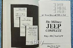 Military Jeep Complete Manuals, Willys MB/Ford GPW All 3 Original TM's in Full