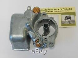 New Carter WO Carburetor Main Body. Willys MB CJ2A Ford GPW Army Jeep G503 Carb