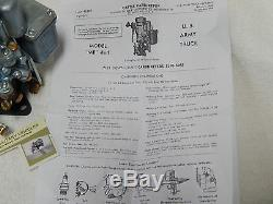 New Production Carter WO Carburetor. Willys MB CJ2A Ford GPW Army Jeep G503 Carb