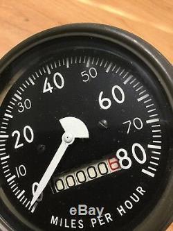 Nos Slat Grill Jeep Willys Gpw G503 Military 80 Mph Speedometer Gauge Speedo