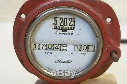 Original 1920's 30's Car Truck 75 MPH Stewart Speedometer with Bezel & Cable AACA