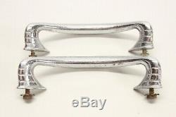 Original 1930's 40's Truck Cab COE Chrome Pull Handles Grab Bars Dodge Ford GMC