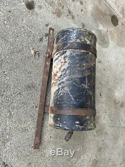 Original 20-30s 40 Canister Vacuum Auto Parts Restoration Withbrackets Rat Rod