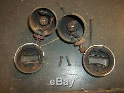 Pair ford gpw f script original blackout marker lights willys mb military jeep