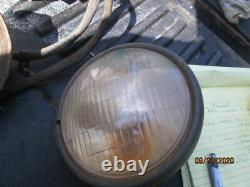 Pair head lights Willys Ford WWII Jeep MB GPW original