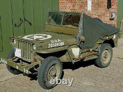 RAIN COVER US ARMY Willys Jeep MB PERSENNING REGENVERDECK Ford GPW Hotchkiss