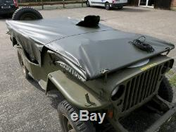 RAIN COVER Willys Jeep Abdeckung POLYAMID PERSENNING VERDECK Ford GPW Hotchkiss