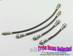 STAINLESS BRAKE HOSE SET Willys MB, Ford GPW Military Jeep 1942 1943 1944 1945