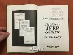 The Military Jeep Complete Willys MB / Ford GPW 1971 Post Motor Books HB
