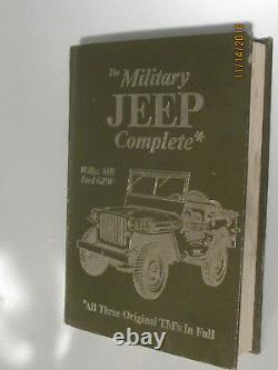 The Military Jeep Complete Willys MB Ford GPW All Three Original Tm's in Full