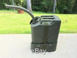 US MILITARY VEHICLE GAS JERRY CAN with CARRIER & SPOUT WILLYS JEEP MB FORD GPW