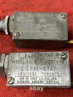 VTG 1950s 1960s FLARESTAT 12v Hazard 4 Way Flasher Emergency Switch Signal-Stat