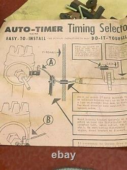 Vintage Accessory Auto-timer Timing Selector Mounts On Dash Ford Chevy Mopar