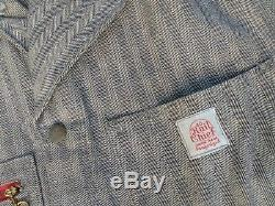 Vintage Deadstock Bib Coveralls RAIL CHIEF Overalls NOS 40 Union Made Sanforized