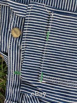 Vintage Deadstock Bib Overalls Washington Dee Cee Triple Stitched Sanforized