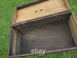 Vintage Gm Fisher Body Wood Carriage Box / Tool Box / Tackle Box