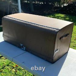 Vintage Original 1925 1935 Accessory 36 Leather Auto Trunk with Cover