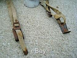 Vintage Roof Rack Asm. Brackets & Hardware Parts Lot Suction Cups Wooden Antique