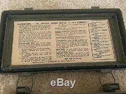 WW2 and Korean War Willys Jeep Ford MB GPW First Aid Kit With Contents NOS RARE