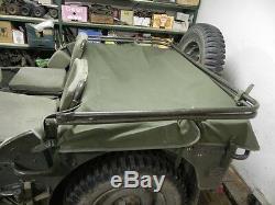 Willy's Jeep MB, Ford Gpw, Tarpaulin Rear, Rear Tarpaulin