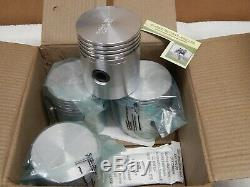 Willys CJ2A Piston Set. 020 Over. L134 F134 MB M38A1 CJ3A CJ3B CJ5 Ford GPW Jeep