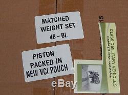 Willys CJ2A Piston Set. 080 Over. L134 F134 MB M38A1 CJ3A CJ3B CJ5 Ford GPW Jeep