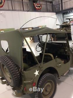 Willys Jeep MB, Ford GPW, Sommerverdeck aus originalem U. S. Stoff, Top