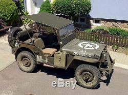 Willys Jeep MB Jeepverdeck Ford GPW, Bikini Top, in khaki, bikini Verdeck