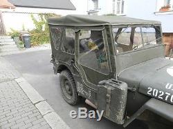 Willys Jeep MB Jeepverdeck Ford Gpw, Completo Winterverdeck con Türplanen