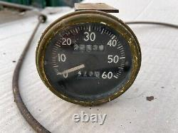 Willys MB Ford GPW Jeep WW2 Original Speedometer and speedo cable
