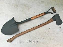 Wwii Us Army Military Vehicle Shovel & Ax / Axe Set Willys Jeep MB Ford Gpw