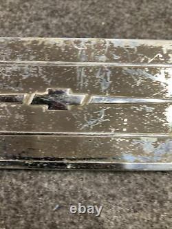 1937 Chevrolet Radio Ash Tray Delete Plate Gm Intérieur Garniture De Tiret 37 Chevy Bomb