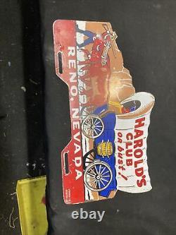 1940 Vintage 1950 Accessoires Harolds Club De Plaque D'immatriculation Topper Bomb Lowrider