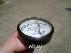 1950 Antique Automobile Thermomètre Pin Visière Vintage Chevy Rat Hot Rod