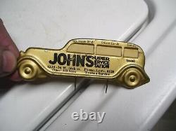 1950 Antique Automobile Visor Nos Rappel De Service Vintage Chevy Ford Jalopy Vw