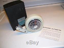 1950 Vintage Originale Altitude Baromètre Jauge Altimètre Auto Part Vieille Voiture