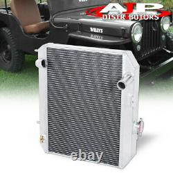 3 Rangs Aluminium Performance Engine Radiateur Pour 1941-1952 Jeepy Willys Ford Gpw